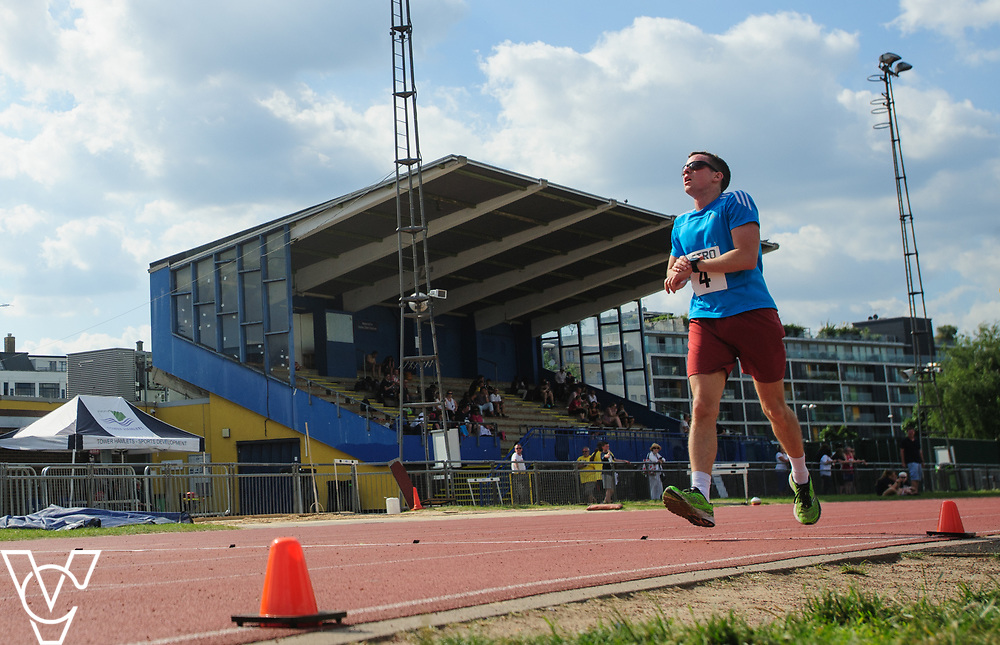 Metro Blind Sport's 2017 Athletics Open held at Mile End Stadium.  5000m.  Rhys Jones<br /> <br /> Picture: Chris Vaughan Photography for Metro Blind Sport<br /> Date: June 17, 2017
