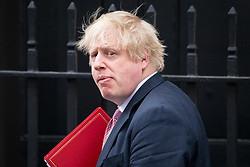 © Licensed to London News Pictures. 27/03/2018. London, UK. Foreign and Commonwealth Secretary Boris Johnson leaves 10 Downing Street this afternoon. Photo credit : Tom Nicholson/LNP