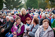 """Hundreds of citizens from the village of Brasy came to meet and support Czech president Milos Zeman's during his  public """"meetings with citizens"""". Miloš Zeman (born 28 September 1944) is the third and current President of the Czech Republic, in office since 8 March 2013.  He announced his candidacy for the 2018 presidential elections which will be held in the Czech Republic on 12–13 January."""