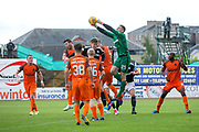 Dundee United goalkeeper Harry Lewis (#25) punches clear from a cross during the Betfred Scottish Cup group stage match between Dundee and Dundee United at Dens Park, Dundee, Scotland on 29 July 2017. Photo by Craig Doyle.