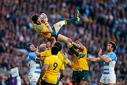 Australia Winger Adam Ashley-Cooper takes a high ball - Mandatory byline: Rogan Thomson/JMP - 07966 386802 - 25/10/2015 - RUGBY UNION - Twickenham Stadium - London, England - Argentina v Australia - Rugby World Cup 2015 Semi Finals.