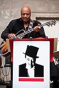 Edward Ellington, grandson of Duke Ellington, with the Ellington Big Band and 14 Pianists at Central Park Bandshell, NYC 7/1/09.