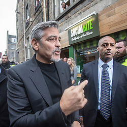 George Clooney in Edinburgh