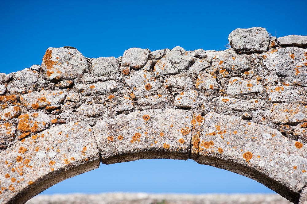 Medieval stone arch in Trujillo (Spain)