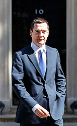 © Licensed to London News Pictures. 10/06/2015. London, UK. Chancellor of the Exchequer GEORGE OSBORNE leaving Number 11, Downing Street to attend the Prime Minister's Questions at Parliament on Wednesday, 10 June 2015. Photo credit: Tolga Akmen/LNP