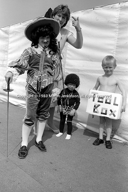 Fancy dress competition. 1983 Yorkshire Miner's Gala. Barnsley