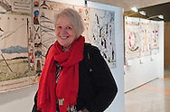 Liz Lochhead at the launch<br /> <br /> Media launch of the Great Tapestry of Scotland at the Scottish Parliament in Edinburgh with Dorie Wilkie, Andrew Crummy, Alexander McCall Smith, Alistair Moffat and presiding officer Tricia Marwick<br /> <br /> Copyright Alex Hewitt<br /> 07789 871 540