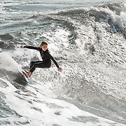 Young surfer on Texas Coast