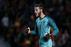 September 11, 2018 - Alicante, Alicante, Spain - David De Gea of Spain celerbates a goal during the UEFA Nations League A group four match between Spain and Croatia at Martinez Valero  on September 11, 2018 in Elche, Spain  (Credit Image: © David Aliaga/NurPhoto/ZUMA Press)