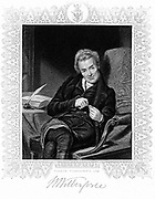 William Wilberforce (1759-1833) English philanthropist: Abolition of slavery. Engraving