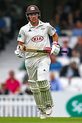 Rory Burns of Surrey during the Specsavers County Champ Div 1 match between Surrey County Cricket Club and Kent County Cricket Club at the Kia Oval, Kennington, United Kingdom on 7 July 2019.