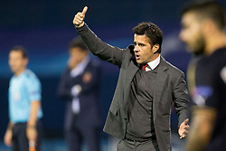 Marco Silva, head coach of Olympiakos during football match between GNK Dinamo Zagreb and Olympiakos in Group F of Group Stage of UEFA Champions League 2015/16, on October 20, 2015 in Stadium Maksimir, Zagreb, Croatia. Photo by Urban Urbanc / Sportida