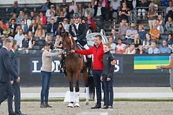 Christensen Jan Möller, DEN, Hesselhoej Donkey Boy<br /> Longines FEI/WBFSH World Breeding Dressage Championships for Young Horses - Ermelo 2017<br /> © Hippo Foto - Dirk Caremans<br /> 06/08/2017