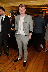 Musician JOHN NEWMAN at the Kiehl's Icons VIP Dinner held at the Balthazar Dining Room, Wellington Street, London on 26th March 2014.