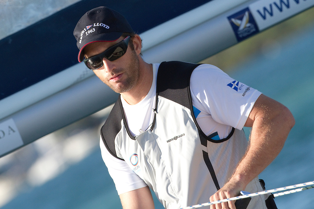 Ben Ainslie during repechage of the Argo Group Gold Cup 2010. Hamilton, Bermuda. 8 October 2010. Photo: Subzero Images/WMRT