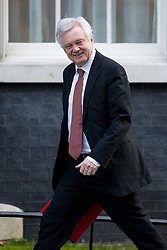 © Licensed to London News Pictures. 06/02/2018. London, UK. Secretary of State for Exiting the European Union David Davis arriving in Downing Street to attend a Cabinet meeting this morning. Photo credit : Tom Nicholson/LNP