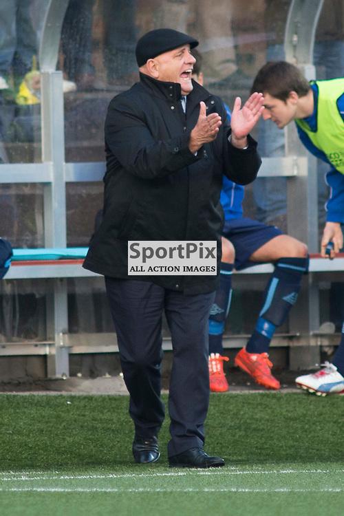 Dick Campbell in the Forfar Athletic v Airdrie Station Park, Forfar, 07 November 2015<br />(c) Russell G Sneddon / SportPix.org.uk