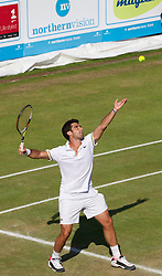 LIVERPOOL, ENGLAND - Friday, June 21, 2013: Pablo Andujar during Day Two of the Liverpool Hope University International Tennis Tournament at Calderstones Park. (Pic by David Rawcliffe/Propaganda)