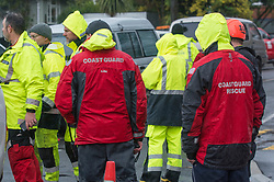 Emergency services at Burnbrae Street, Beckenham after flooding from the Heathcote River, Christchurch, New Zealand, Saturday, July 22, 2017. Credit:  SNPA / David Alexander -NO ARCHIVING-