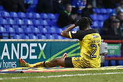 Burton Albion midfielder Hope Akpan (21) reacts during the EFL Sky Bet Championship match between Ipswich Town and Burton Albion at Portman Road, Ipswich, England on 10 February 2018. Picture by Richard Holmes.