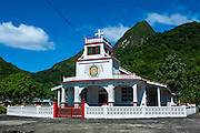 Church in Afono in Tutuila, American Samoa, South Pacific