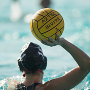 13 March 2016: The San Diego State Aztecs women's waterpolo team took on #16 Indiana Sunday morning at the Aquaplex and lost 9-6.<br /> www.sdsuaztecphotos.com