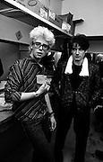 U2 - Adam Clayton and Bono - backstage  Chicago s - USA tour - 1981