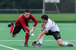 Southgate v Fareham - Men's Hockey League Division 1 South  at Southgate Hockey Centre, Trent Park, London, England on 26 October 2019.<br /> Photo by Simon Parker/SP Action Images