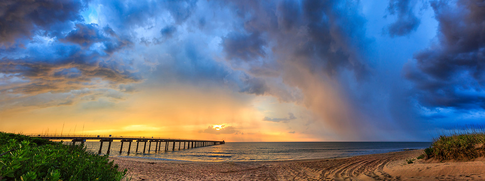 An unbelievable sky during a storm at the Duck Research Pier on the Outer Banks of North Carolina.