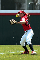 19 April 2014: Kara Repp  during an NCAA women's softball game between the Evansville Purple Aces and the Illinois State Redbirds on Marian Kneer Field in Normal IL