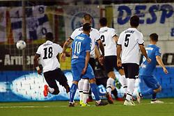 """Foto Filippo Rubin<br /> 17/04/2018 Cesena (Italia)<br /> Sport Calcio<br /> Cesena - Empoli - Campionato di calcio Serie B ConTe.it 2017/2018 - Stadio """"Dino Manuzzi""""<br /> Nella foto: GOAL EMPOLI DI ALFREDO DONNARUMMA (EMPOLI)<br /> <br /> Photo by Filippo Rubin<br /> April 17, 2018 Cesena (Italy)<br /> Sport Soccer<br /> Cesena vs Empoli - Italian Football Championship League B 2017/2018 - """"Dino Manuzzi"""" Stadium <br /> In the pic: GOAL  ALFREDO DONNARUMMA (EMPOLI)"""