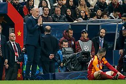 November 26, 2019, Galatasaray, Turkey: Club Brugge's head coach Philippe Clement reacts during a game between Turkish club Galatasaray and Belgian soccer team Club Brugge, Tuesday 26 November 2019 in Istanbul, Turkey, fifth match in Group A of the UEFA Champions League. (Credit Image: © Bruno Fahy/Belga via ZUMA Press)