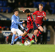 06/10/2017 - St Johnstone v Dundee - Dave Mackay testimonial at McDiarmid Park, Perth, Picture by David Young - Dundee's Faissal El Bakhtaoui robs Saints' Murray Davidson