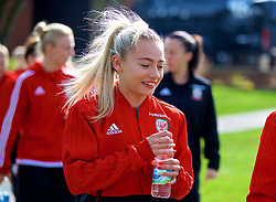 SOUTHAMPTON, ENGLAND - Friday, April 6, 2018: Wales' Charlie Estcourt during a pre-match walk at the Marriott Meon Valley Hotel & Country Club ahead of the FIFA Women's World Cup 2019 Qualifying Round Group 1 match between England and Wales. (Pic by David Rawcliffe/Propaganda)