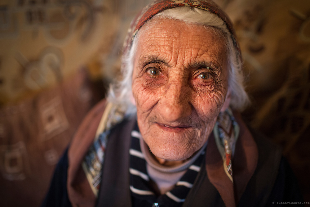 Rosa in her home in the village of Zovasar. Armenia