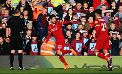 Emre Can of Liverpool celebrates after scoring his sides first goal - Mandatory by-line: Matt McNulty/JMP - 24/02/2018 - FOOTBALL - Anfield - Liverpool, England - Liverpool v West Ham United - Premier League
