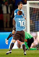Giuseppe Rossi of Italy and Villarreal celebrates his goal.  FIFA Confederations Cup South Africa 2009 <br /> United States of America  v Italy at Loftus Versfeld  Stadium Tshwane/Pretoria South Africa<br /> 15/06/2009 Credit Colorsport / Kieran Galvin