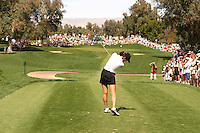 March 26, 2005; Rancho Mirage, CA, USA;  15 year old amateur Michelle Wie tees off at the 17th hole during the 3rd round of the LPGA Kraft Nabisco golf tournament held at Mission Hills Country Club.  Wie shot a 1 over par 73 for the day and was tied for 21st at one over par 217.<br />Mandatory Credit: Photo by Darrell Miho <br />&copy; Copyright Darrell Miho