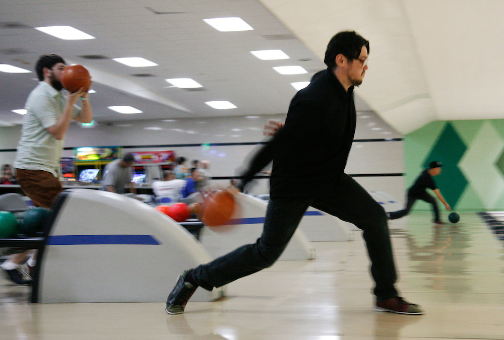 Bowling at All Star Lanes in Eagle Rock, Calif.