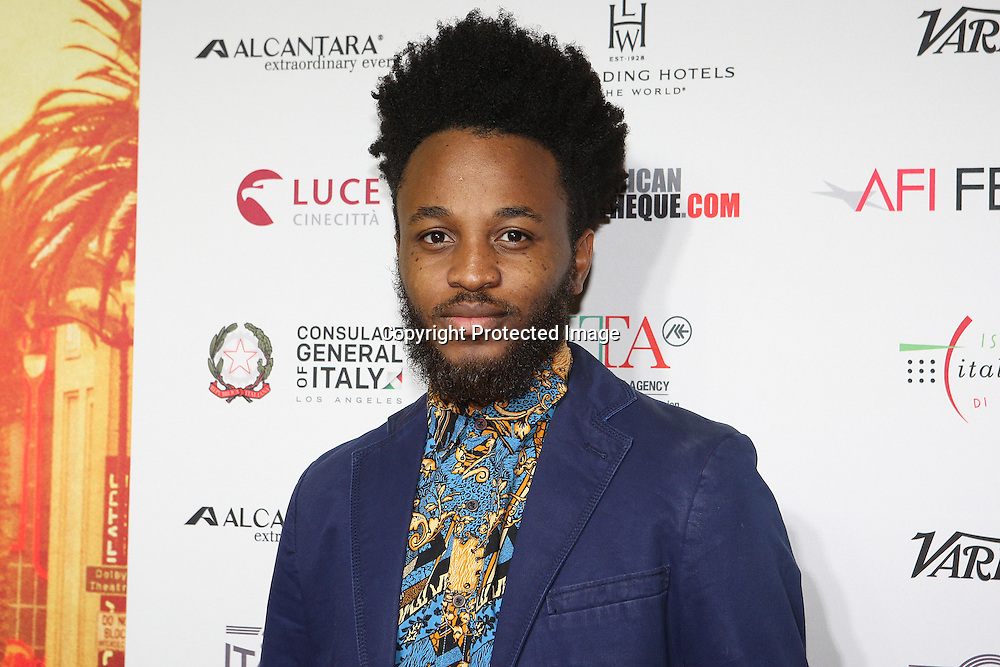 Actor Ifeanyi Dike Jr. attends a Conversation with Gianfranco Rosi and screening of Fire at Sea at AFI Fest 2016 presented by AUDI at the Graumans Egyptian in Hollywood, CA on November 17th