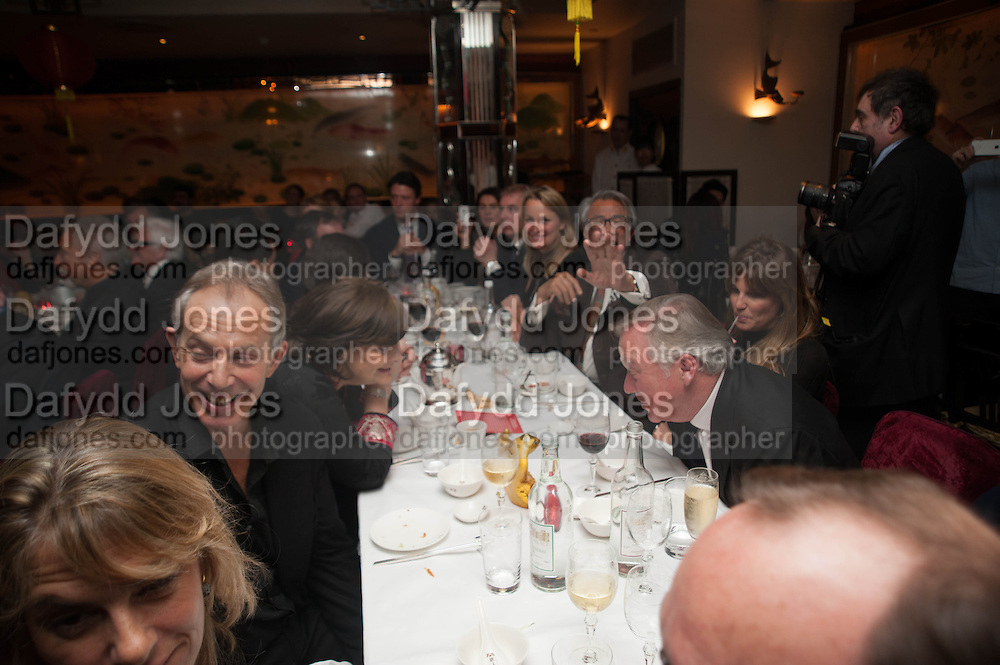 TONY BLAIR; Chinese New Year dinner given by Sir David Tang. China Tang. Park Lane. London. 4 February 2013.