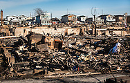 November 6th, NY, New York, 111 homse in Breezy Point , Queens that burnt to the ground when superstorm Sandy hit, in what Mayor Bloomberg called New York City's worst fire ever. Hurricane Sandy hit the try-state area as a tropical storm causing billions of dollars of damage and cutting electricity to hundreds of thousands. Extreme weather is being blamed on climate change by many scientist.