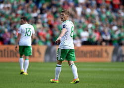 Steven Davis of Northern Ireland  - Mandatory by-line: Joe Meredith/JMP - 25/06/2016 - FOOTBALL - Parc des Princes - Paris, France - Wales v Northern Ireland - UEFA European Championship Round of 16
