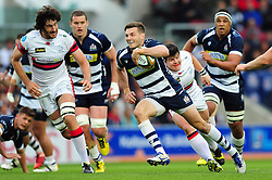 Bristol Rugby Scrum-Half Will Cliff goes on the attack - Mandatory byline: Patrick Khachfe/JMP - 25/05/2016 - RUGBY UNION - Ashton Gate Stadium - Bristol, England - Bristol Rugby v Doncaster Knights - Greene King IPA Championship Play Off FINAL 2nd Leg.