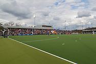 Eindhoven - Oranje Rood - Bloemendaal  Heren, Hoofdklasse Hockey Heren, Seizoen 2017-2018, 15-04-2018, Oranje Rood - Bloemendaal 1-1,  overzicht speelveld<br /> <br /> (c) Willem Vernes Fotografie