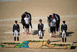 Dujardin Charlotte, GBR, Werth Isabell, GER, Broring-Sprehe Kristina, GER<br /> Olympic Games Rio 2016<br /> © Hippo Foto - Dirk Caremans<br /> 15/08/16