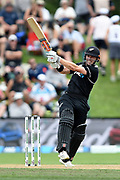 Henry Nichols of the Black Caps during the ANZ One Day International match between the Black Caps and Bangladesh, played at the University Oval, Dunedin, New Zealand, on February 20, 2019. Copyright Image: Joe Allison / www.Photosport.nz