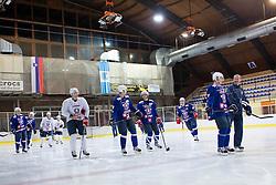 Players of Slovenia at first practice of Slovenian National Ice Hockey team before EIHC tournament in Innsbruck, on November 4, 2013 in Ledena dvorana Bled, Bled, Slovenia. (Photo by Matic Klansek Velej / Sportida.com)