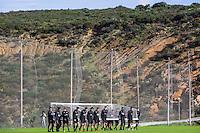 ESTEPONA - 05-01-2016, AZ in Spanje 5 januari, AZ speler Markus Henriksen, AZ speler Robert Muhren
