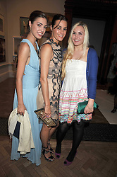 Left to right, AMBER LE BON, her mother YASMIN LE BON and SAFFRON LE BON at the Royal Academy of Arts Summer Party held at Burlington House, Piccadilly, London on 3rd June 2009.